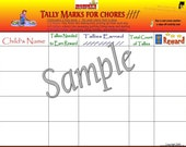 Tally Marks for Chores 8.5x11 Laminate (Chore Chart, Behavior Chart, Discipline)
