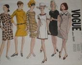 Vogue 1849 (1960s) -  Mod Dress (1968 pattern) Size 8, Bust 31.5