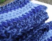 Blue Skinny Scarf in Wool