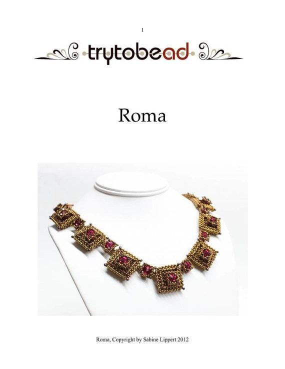 Roma Necklace pattern PDF file