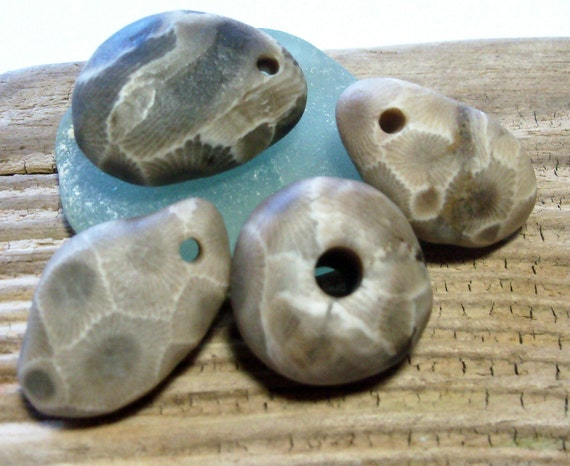 Petoskey Stone Beads - Pebble Rocks