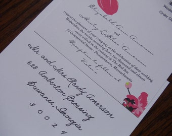 Handwritten calligraphy for wedding invitations and more