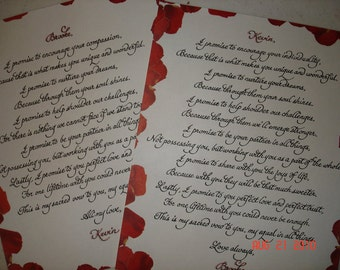 Handwritten calligraphy for poetry, more...