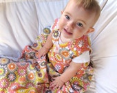 cotton sleep sack, The Baby Snap Sack, baby and toddler sleeping bag, cotton blanket, size adjusts as child grows, pink kaleidoscope
