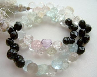 1/2  Strand - Variety Strand Faceted Onion Briolettes  - (No. 1170)