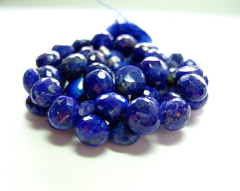 1/4 Strand - Out of this world Vibrant Blue Lapis Lazuli Faceted Onion Briolettes (No. 1357)