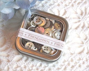 Vintage Button Collection-Mixed Colours
