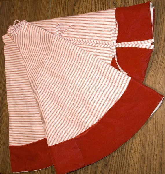 Etsy Christmas Tree Skirt: Christmas Tree Skirt Red Ticking And Velvet By Diturpin On