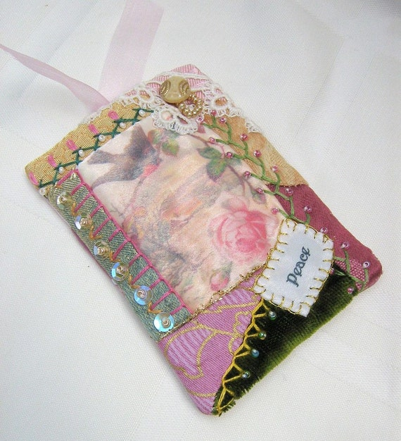 Mini Crazy Quilt - ACEO - Comfort Gift Card Holder