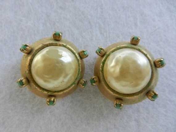 Original vintage 1950, Italian - spectacular earrings, collectibles, typical design and wonderful-art.993-