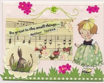 Handmade Greeting Card - Small things