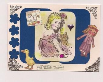 Handmade Greeting Card - Get Well