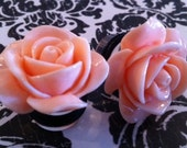 Pink Rose Plugs/Earrings