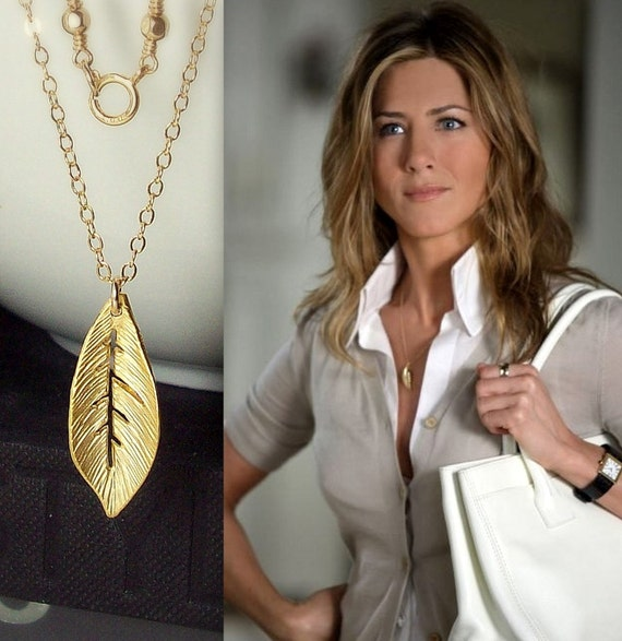 RESERVED Listing for Beth....Leaf Gold Necklace - Jennifer Aniston....Black Friday Sale, Cyber Monday Sale, Free Shipping
