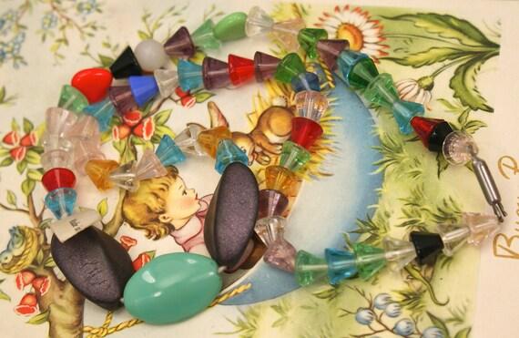 VINTAGE CZECH Necklace Glass