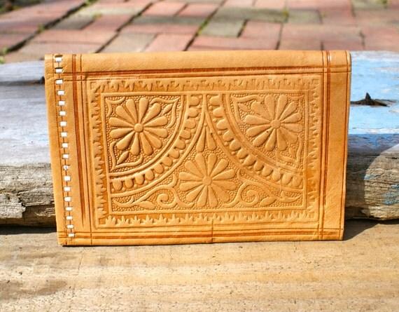 Vintage Leather 1960s Hippie Wallet