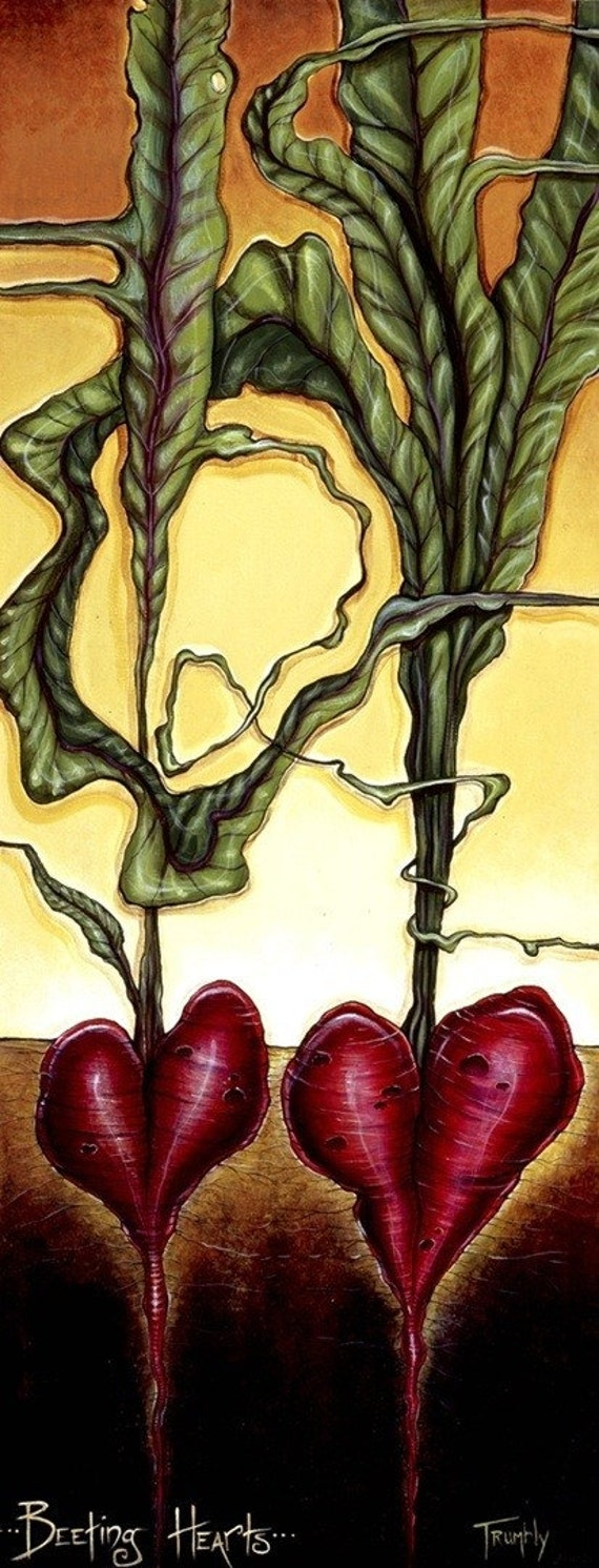 Beeting Hearts by Shanna Trumbly-13 3/4 x 34 3/8 Medium Canvas Giclee Print