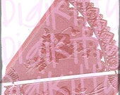 2 German Dresden Trims Pink Foil Cones Tussie Mussies DOUBLESIDED Valentines