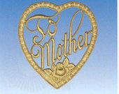 Gold Dresden To Mother Heart Double-sided from Germany set of 3
