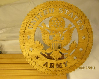 US ARMY SCROLL Saw Plaque