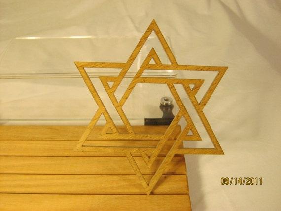 STAR OF DAVID Hand Made Scroll Saw Piece