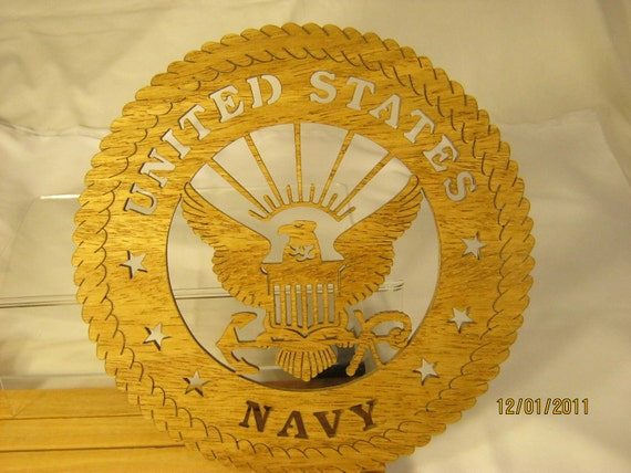US NAVY Scroll Saw PLAQUE