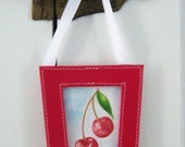 Cherries for You - A Little Wall Hanging - Original Art