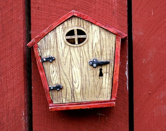 "whimsical fun fantasy home red tan - ""The Fairy House"" 8x10 photograph"