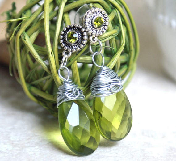 Green Agate Earrings
