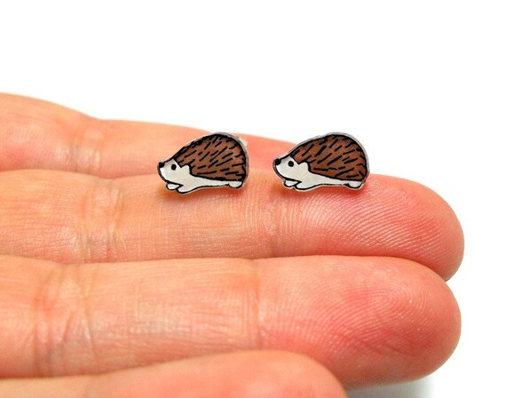 Lil' Hedgehogs, Post Earrings