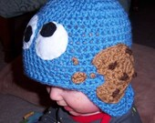 Cookie Monster, Cookie Monster Hat, Sesame Street Hat, Cookies, Christmas, Birthday, Monster Hat, All sizes from Newborn to Adult