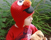 Elmo Hat, Tickle Me Elmo Hat, Elmo Beanie, Elmo, Sesame Street Hat, Christmas Hat, Birthday Hat ALL Sizes from Newborn to Adult