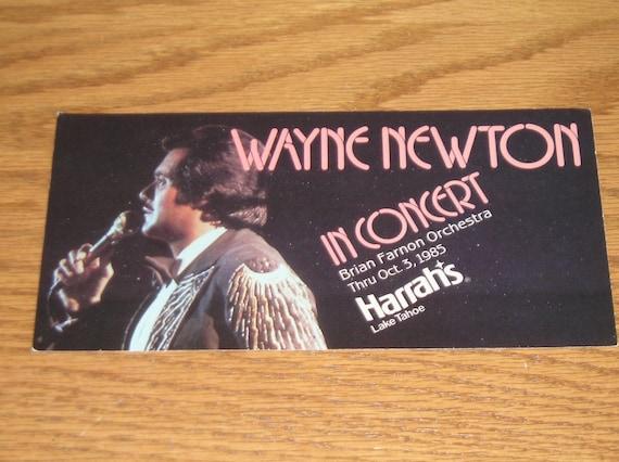 Unused Picture Postcard Harrah's Lake Tahoe Nevada Wayne Newton 1985