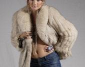 Vintage Cream SAGA FOX FUR Coat Jacket  (RESERVED FOR RUBYCLOVERDREAM)