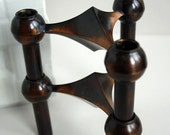 RESERVED - Pair of Atomic Age Candle Holders