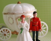 Cinderella and Prince Charming Cake Topper Set