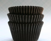 45 Black Cupcake Liners / Baking Cups - Wedding Cupcakes, Pirate Parties, Halloween