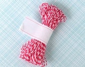 Pink Baker's Twine (15 yards), Pink Sorbet Twine, Baby Shower Decor,  Pink and White Bakers String