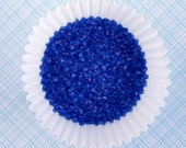 Dark Blue Crystal Sugar, Dark Blue Sparkling Sugar, Royal Blue Crystal Sugar (4 ounces)