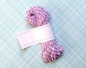 Orchid Lavender Bakers Twine - Lavender and White Striped Twine (15 yards)