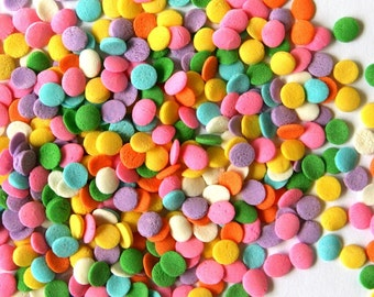 Pastel Confetti Sprinkles (3 oz) Pastel Quins / Sprinkles for Ice Cream Sundaes, Cupcakes, Cookies, Cakes