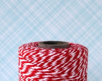 Red Baker's Twine (240 yards) - Red and White Bakers Twine
