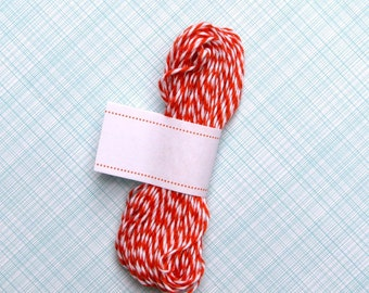 Orange Baker's Twine (15 yards), Halloween Twine, Orange and White Bakers Twine, Mandarin Orange Twine