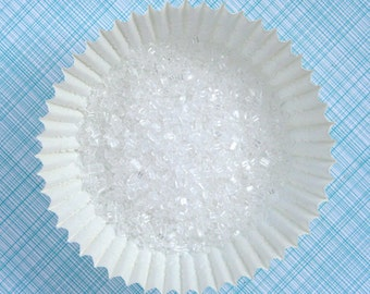 White Sparkling Sugar / Crystal Sugar for Decorating Cupcakes, Cookies and Cakes (4 ounces)