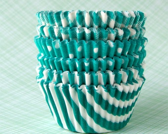Green Mix Cupcake Liners - set 2 (60)