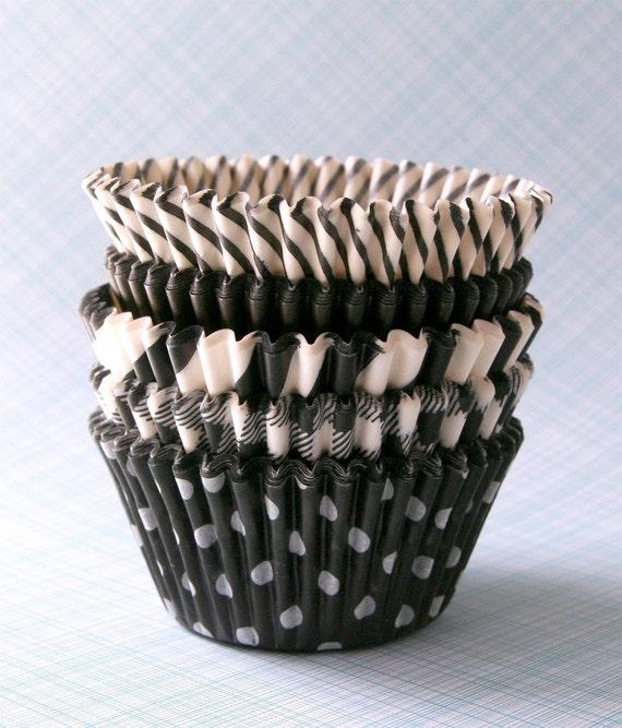 Black Mix Cupcake Liners (50)