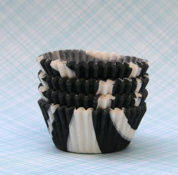 MINI Zebra Cupcake Liners (60)