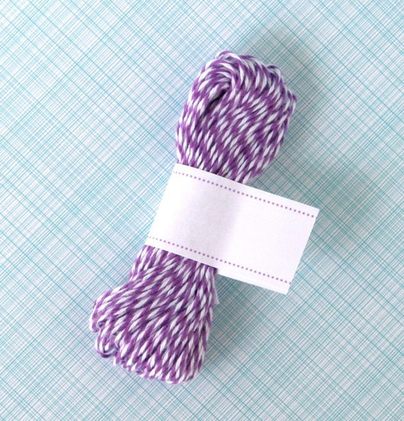 Purple Baker's Twine (15 yards) Purple and White Bakers Twine