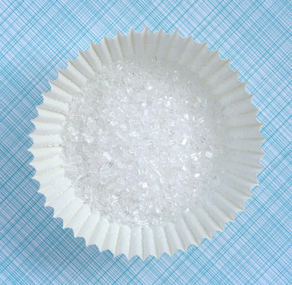 White Sparkling Sugar, White Crystal Sugar, White Coarse Sugar, Sparkling White Sugar (4 oz)
