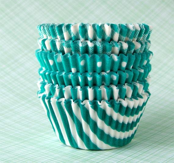 Green Mix Cupcake Liners - set 2 (60)